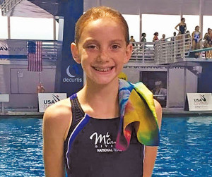 Kate at 2015 USA Diving Nationals in Orlando, FL